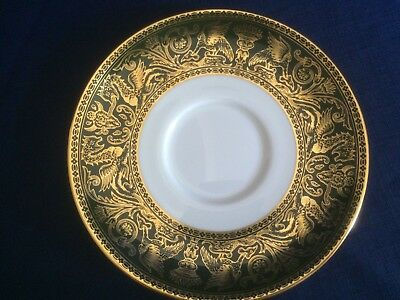 Wedgwood Florentine Arras Green saucer for soup cup (minor flaws