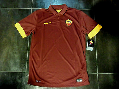 Fw14 As Roma Nike Xl T-Shirt Competition Football Offiziell Shirt Jersey