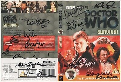Dr Who Survival DVD Cover Auto by 11 People