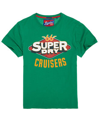 New Mens Superdry Reworked Classic Surf Lite T-Shirt Frontier Green