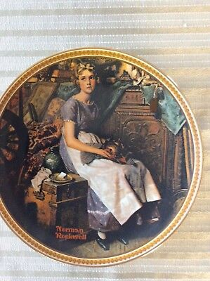 "Norman Rockwell limited edition ""Dreaming in the attic "" vintage plate"