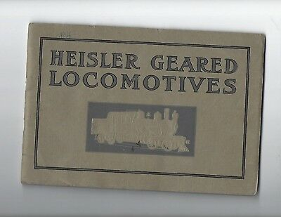 1912 Heisler Locomotive Works Trade Catalog Booklet