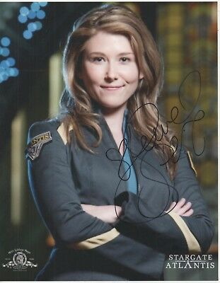 "Stargate Atlantis Auto Photo Print Jewel Staite ""Dr. Jennifer Keller"""