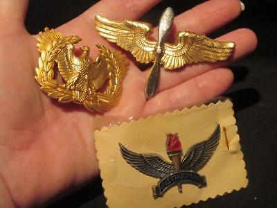 US Army Surplus Group of 3 NOS Post-WWII Military Badges Now Obsolete