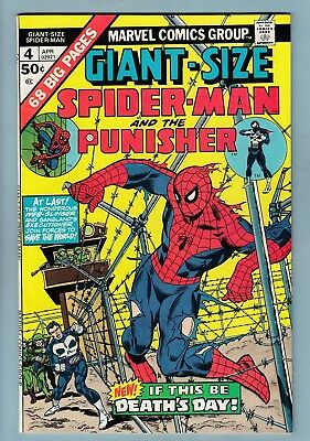 GIANT-SIZE SPIDER-MAN # 4 VFN+ (8.5) 3rd PUNISHER APPEARANCE - HIGH GRADE CENTS