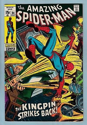 Amazing Spider-Man # 84 Fn (5.5/6.0) Kingpin- Glossy Us Cents Copy_Ow/w Pgs_1970