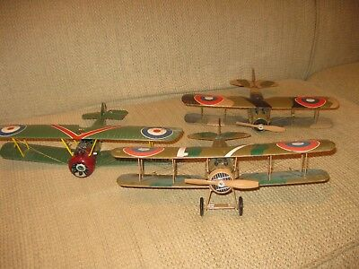 Lot of Three Built-Up Revell 1/28 Scale WWI Fighters: Spads/Sopwith Camel: NICE!