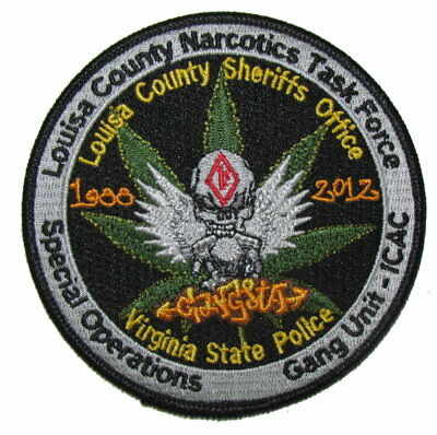 Virginia State Police VSP Louisa County Sheriff Drug Narcotics Gang Unit Patch
