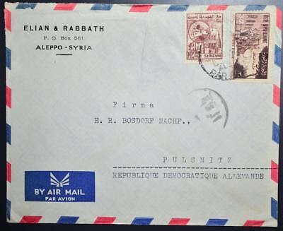 SYRIA to East Germany GDR 1960s  Elian & Rabbath Co Cover ALEPPO to DDR, Syrien