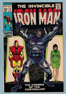 IRON MAN # 12 VFN (8.0) 1st APPEARANCE OF THE CONTROLLER- HIGH GRADE CENTS COPY