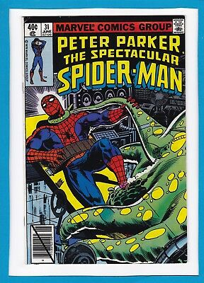 Peter Parker, The Spectacular Spider-Man #31_June 1979_Very Fine+_White Tiger!