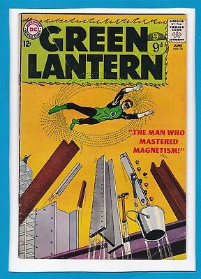 "Green Lantern #21_June 1963_Ungraded_""the Man Who Mastered Magnetism""_Silver Dc!"