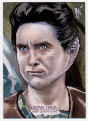 Star Trek Deep Space Nine Heroes & Villains Weyoun Sketch AP Card Lee Lightfoot