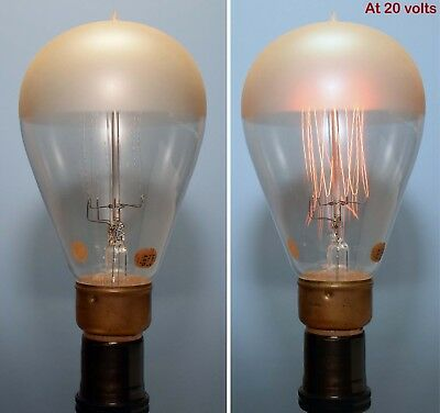 Circa 1913 Half Frosted Sunbeam Mazda Tungsten Bulb of the Western Electric Co.