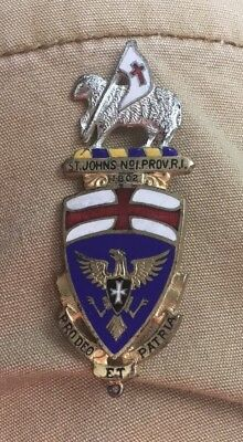 1802-1952 Knights Templar St. John's Masonic No.1 Providence RI Medal Badge Pin