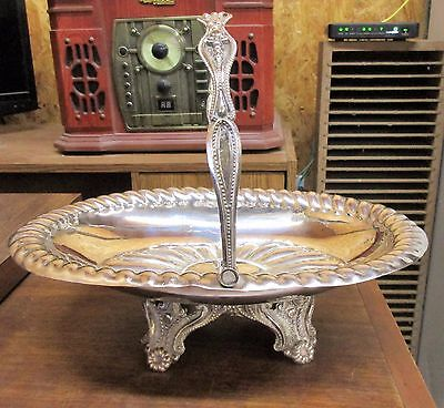 Antique Redfield & Rice NY Silverplate Bride's Basket Handled  Centerpiece