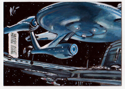 Star Trek Beyond Enterprise AP Artist Proof Sketch Card Lee Lightfoot