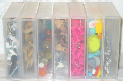 """20 Pc Lot 4 3/8"""" x 4 3/8"""" x 1"""" Square EMPTY Storage Boxes Beads Crafts Fasteners"""