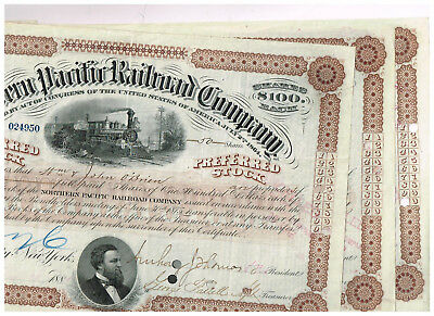 Set 3 Northern Pacific Railroad Co., 1880s, brown