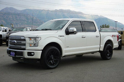 Ford F-150 PLATINUM FX4 FORD CREW CAB PLATINUM 4X4 ECOBOOST CUSTOM WHEELS TIRES LEATHER NAVIGATION ROOF