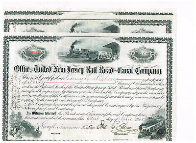 Set 3 United New Jersey Rail Road and Canal Co., 1900er