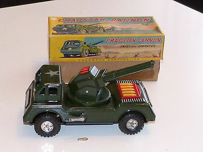 Cragstan Cannon Nomura Army Truck 50er Jahre Schwungrad +Licht Mint in Box Japan