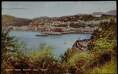 Early Valentines  Postcard - By Brian Gerald - Oban From Pulpit Hill