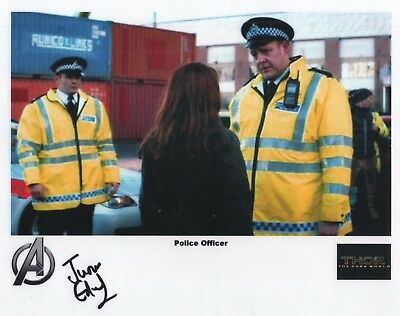 "THOR The Dark World Auto Photo Print Justin Edwards ""Police Officer"""