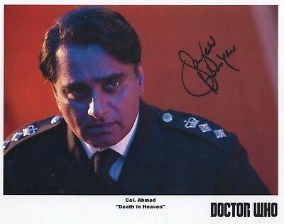 """Doctor Who Auto Photo Print Sanjeev Bhasker """"Col. Ahmed"""""""