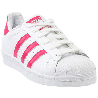 adidas Superstar Youth Sneakers- White- Girls