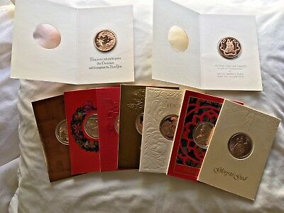 collection of franklin mint christmas cards with bronze coins collectible lot - Mint Christmas Cards