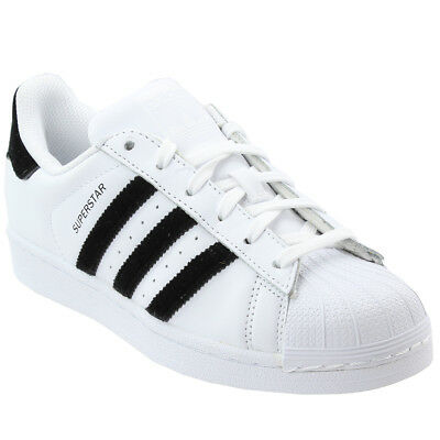 adidas Superstar Youth Sneakers- White- Boys
