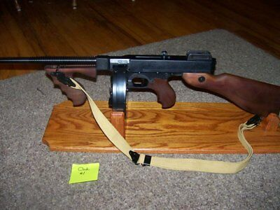 ..solid Oak Display Stand For Thompson 1927A-1 (T-1) W/drum ...tommy Gun! #1