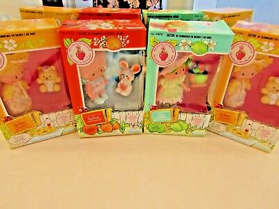 (4)    Strawberry Shortcake Dolls    Kenner    1980's  Sealed Boxes   All Mint !