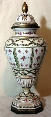 Nice French Sevres Type Hand Painted Porcelain Gilt Bronze Mounted Vase Urn