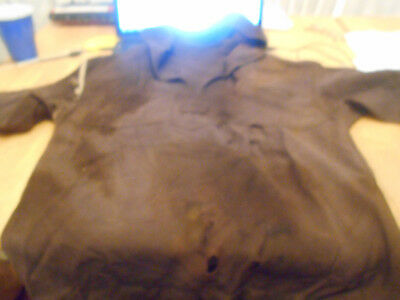 Vintage Ww 1 Era Brown Most Likely Navy Woolen Coat  With Old Piping.soldiers Nm