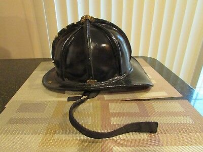 Cairns N5A New Yorker Leather Fire Helmet Fireman's Helmet 1995 Vintage