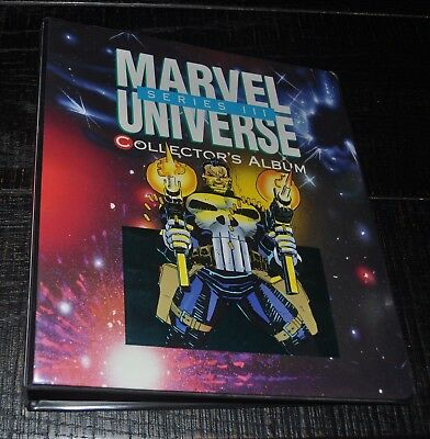1992 Impel Marvel Universe III Official 3 Ring Binder Punisher Ghost Rider