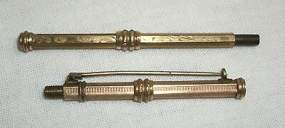 Vintage Propelling Mechanical Pencil Parts Lot Antique Pin Brooch