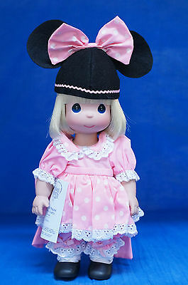 """Pink Mouseketeer 12"""" Vinyl Doll Precious Moments Disney Parks Signed 5150"""