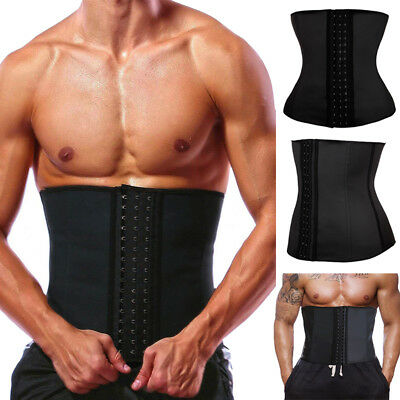 Men Extreme Thermal Body Shaper Slimming Waist Trainer Cincher Power Belt Sweat@