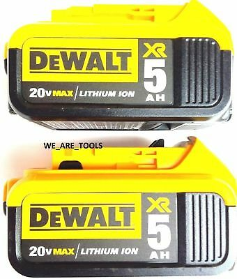 2 NEW GENUINE Dewalt 20V DCB205-2 5.0 Batteries For Drill, Saw, Grinder 20 Volt