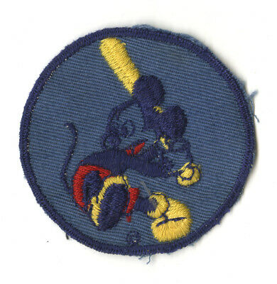 Wwii Original Mickey Mouse Patch On Blue Twill Disney Scrap Metal Drive