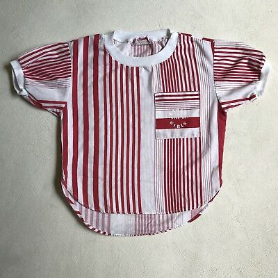 Girls Will Be Girls Vintage Red Striped Shirt For Girl Size 4