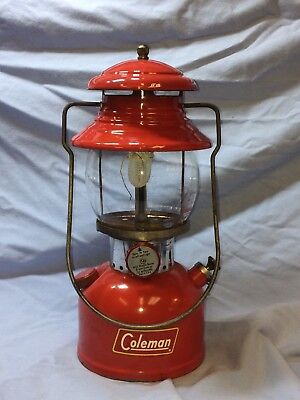 coleman NICE 200a burgandy 2/60 rare early dark red lantern vintage Pyrex
