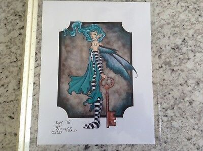 Amy Brown Key to Success fairy Print. FaireLarge New In Plastic Sleeve rare