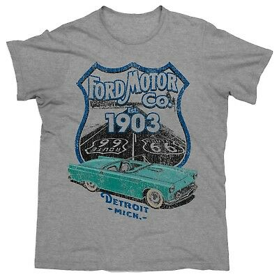 NEW 2019 Ford Motor Company 1903 Route 66 Car Men's Tee T-Shirt Mens Xmas Gift