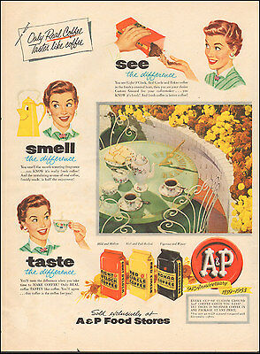 1953 Vintage ad fo A&P Food Stores Eight O'Clock Coffee Art Coffee cup  (092116)