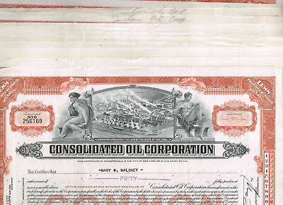 Dealers'-Lot 17 Consolidated Oil Corp., 1930-40s, VF-VF minus