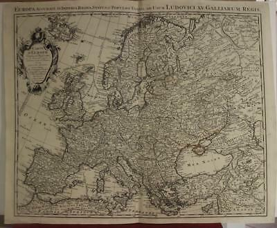 European Continent 1739 Covens & Mortier Antique Original Copper Engraved Map